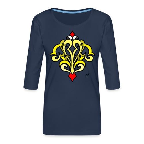 arabesque - Maglietta da donna premium con manica a 3/4
