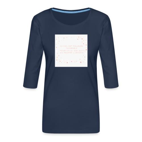 Suivre sa lumière - T-shirt Premium manches 3/4 Femme