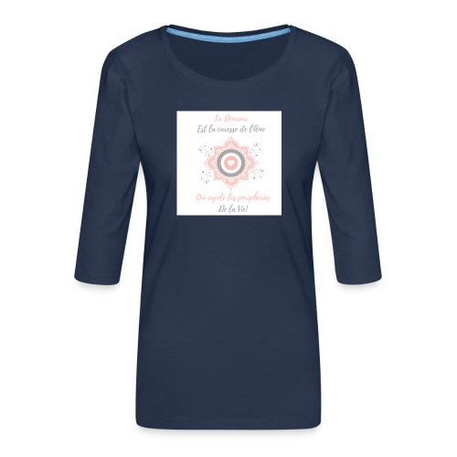 Douceur - T-shirt Premium manches 3/4 Femme