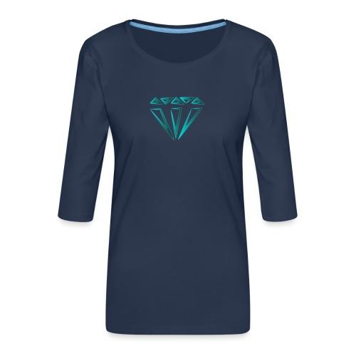 diamante - Maglietta da donna premium con manica a 3/4