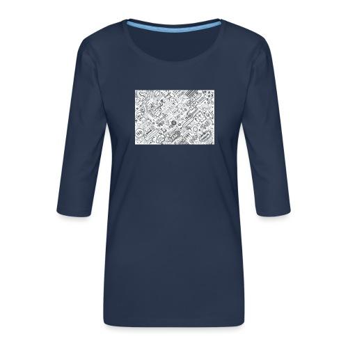 Doodle - Koszulka damska Premium z rękawem 3/4