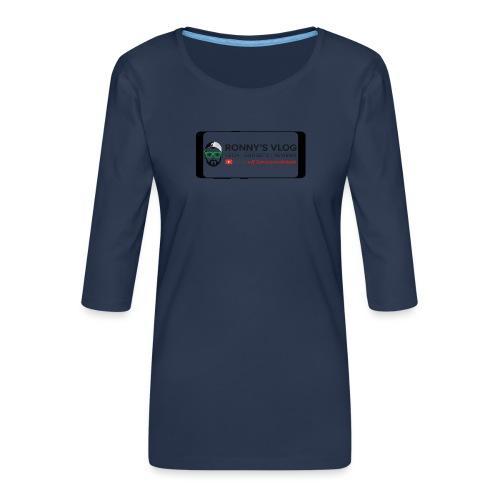 Galaxy S8 by Ronny's Vlog - Frauen Premium 3/4-Arm Shirt