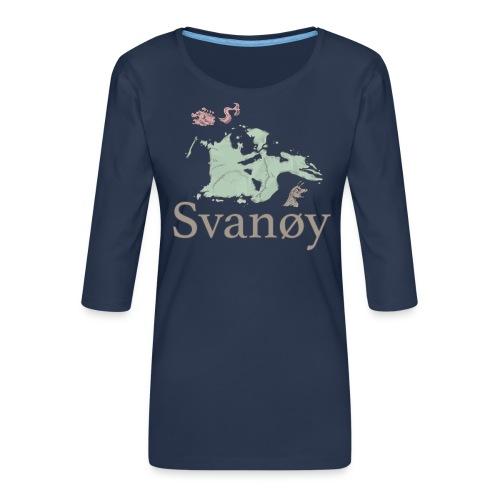 Svanøy - Premium T-skjorte med 3/4 erme for kvinner