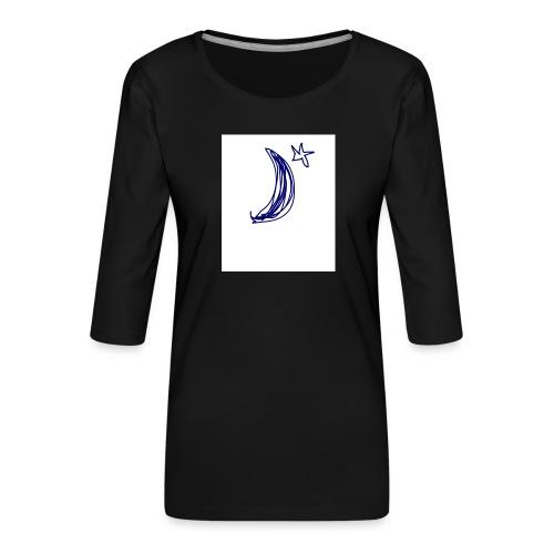 749ED70E C123 4432 BDCE 3C12EE49809F - Camiseta premium de manga 3/4 para mujer