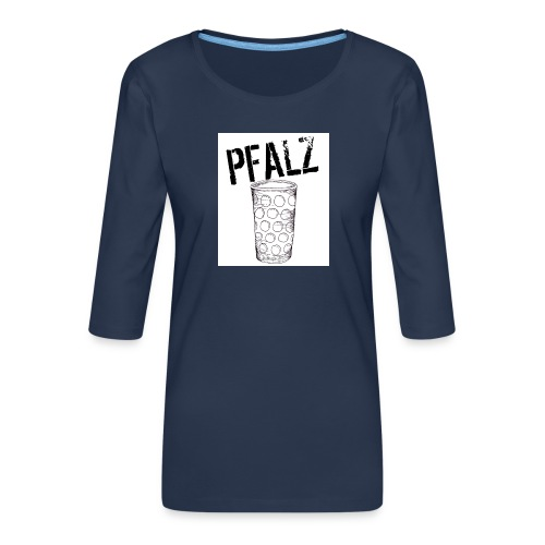 Pfalzshirt mit Dubbeglas, weiß - Frauen Premium 3/4-Arm Shirt