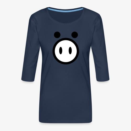 pig - Koszulka damska Premium z rękawem 3/4