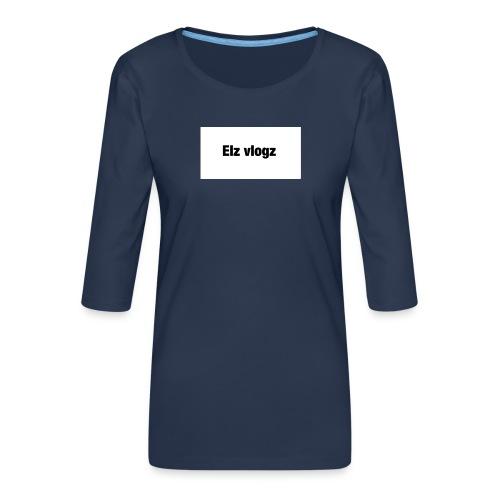 Elz vlogz merch - Women's Premium 3/4-Sleeve T-Shirt
