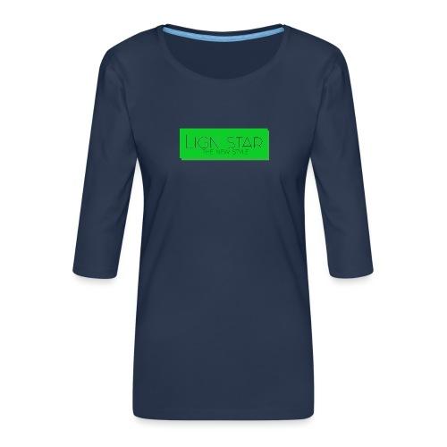 Untitled 3 png - Dame Premium shirt med 3/4-ærmer