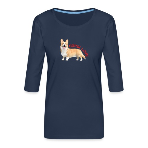 CorgiLove - Women's Premium 3/4-Sleeve T-Shirt