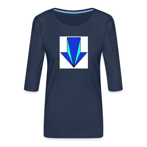 flecha - Camiseta premium de manga 3/4 para mujer