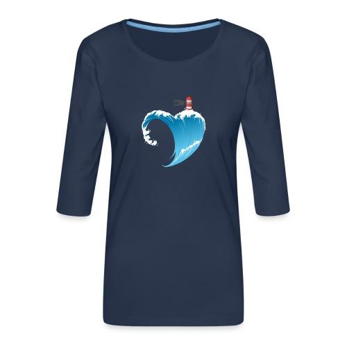 Ostseeherz - Frauen Premium 3/4-Arm Shirt