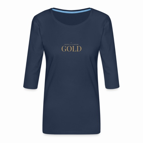 Schtephinie Evardson: Ultra Premium Gold Edition - Women's Premium 3/4-Sleeve T-Shirt