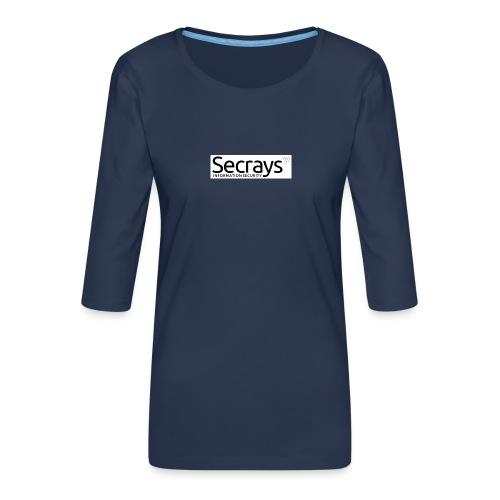 logo musta teksti - Naisten premium 3/4-hihainen paita