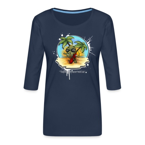 Let's have a surf back home! - Frauen Premium 3/4-Arm Shirt