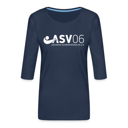 ASV weiss sonderfarbe - Frauen Premium 3/4-Arm Shirt