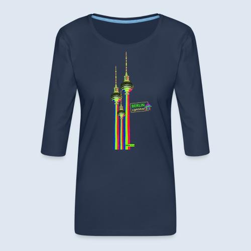 "Berliner Original ""Fernsehturm III"" PopArt Design - Frauen Premium 3/4-Arm Shirt"