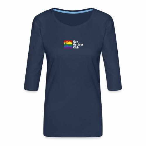 GOC Logo White Text - Women's Premium 3/4-Sleeve T-Shirt