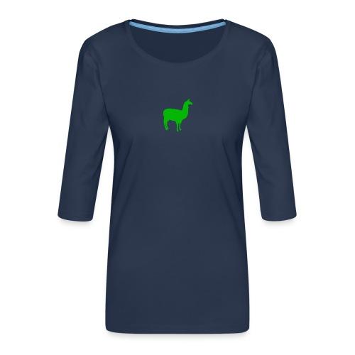 Lama - Vrouwen premium shirt 3/4-mouw