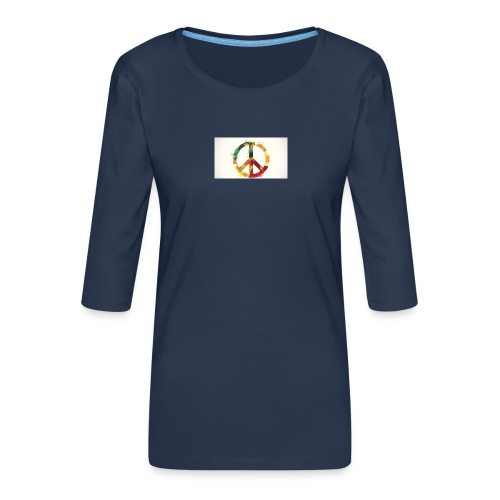 peace mok - Vrouwen premium shirt 3/4-mouw
