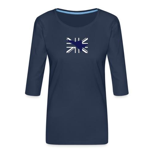 ukflagsmlWhite - Women's Premium 3/4-Sleeve T-Shirt
