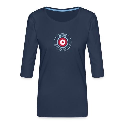 BGE in Österreich mit Fahne - Frauen Premium 3/4-Arm Shirt