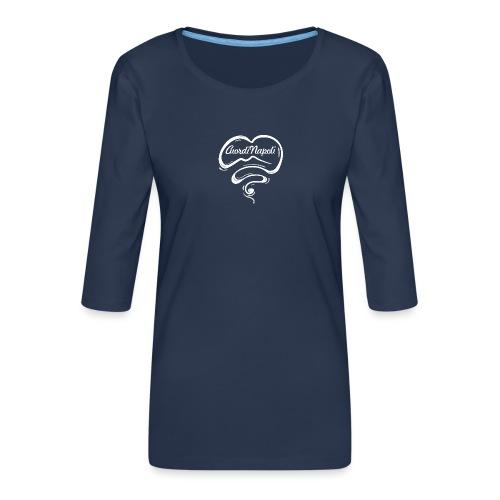 CuordiNapoli New Logo - Maglietta da donna premium con manica a 3/4