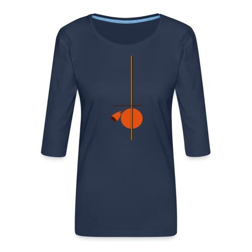 berimbau caxixi - Women's Premium 3/4-Sleeve T-Shirt