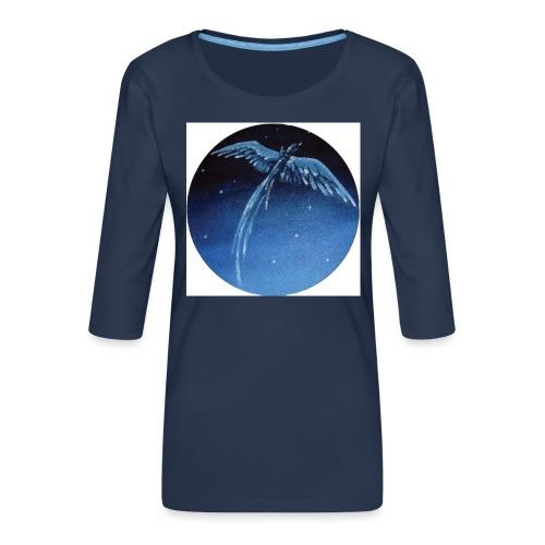 Oiseau Bleu 1 - T-shirt Premium manches 3/4 Femme