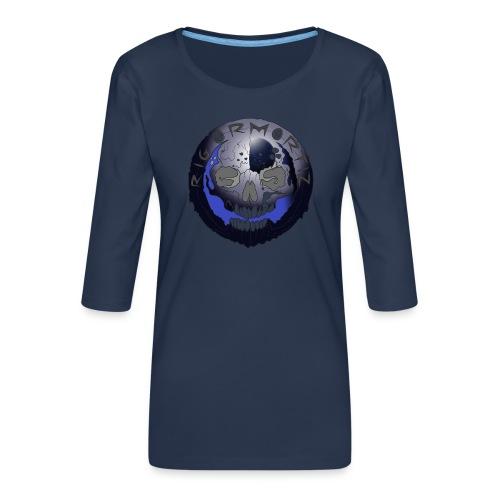 Rigormortiz Metallic Blue-Black Design - Women's Premium 3/4-Sleeve T-Shirt