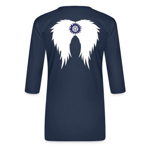 Supernatural wings (vector) Hoodies & Sweatshirts - Women's Premium 3/4-Sleeve T-Shirt