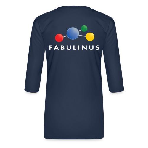 Fabulinus logo enkelzijdig - Vrouwen premium shirt 3/4-mouw