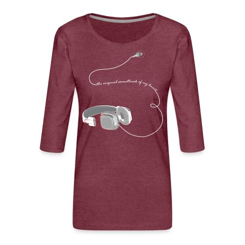 Tee shirt manches longues casque soundtrack - T-shirt Premium manches 3/4 Femme