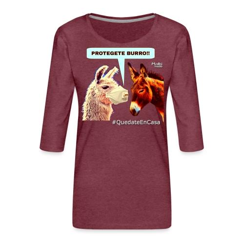 PROTEGETE BURRO - Women's Premium 3/4-Sleeve T-Shirt