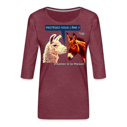 PROTEGEZ-VOUS L'ÂNE !! - Coronavirus - Frauen Premium 3/4-Arm Shirt