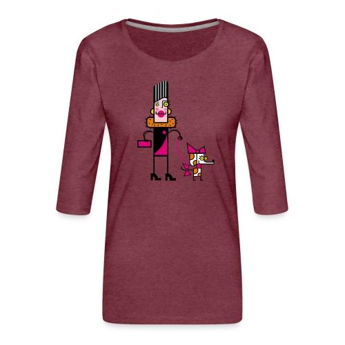 Animal 1 - Maglietta da donna premium con manica a 3/4