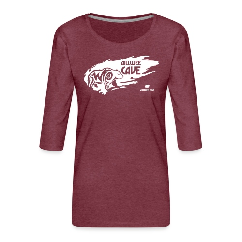Legend_-_Aillwee_Cave1 - Women's Premium 3/4-Sleeve T-Shirt