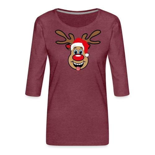 Team Rudolph Rudi Reindeer - Frauen Premium 3/4-Arm Shirt