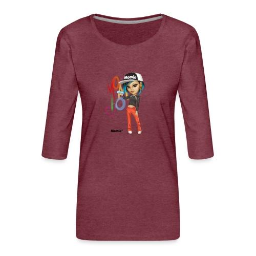 Maya - von Momio Designer Cat9999 - Frauen Premium 3/4-Arm Shirt