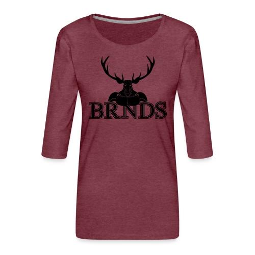 BRNDS - Maglietta da donna premium con manica a 3/4