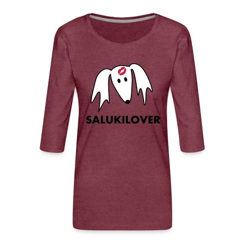 Salukilover - Frauen Premium 3/4-Arm Shirt