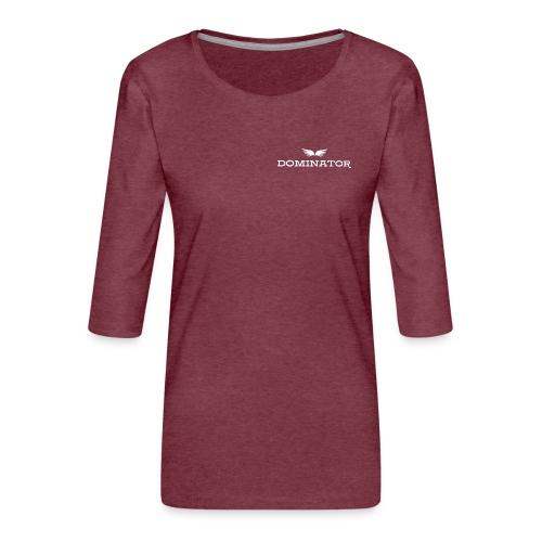 DOMINATOR white logo - Premium-T-shirt med 3/4-ärm dam