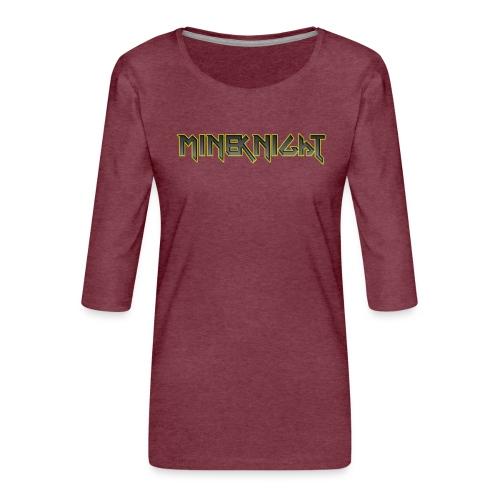 MineKnight T-shirt - Premium-T-shirt med 3/4-ärm dam