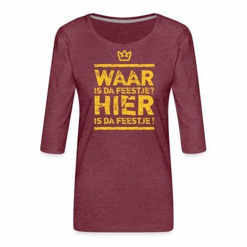 Belgian Feestje - Women's Premium 3/4-Sleeve T-Shirt