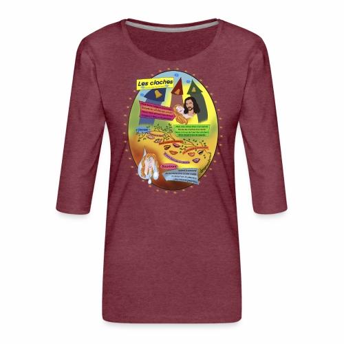 Les Cloches - Guillaume Appollinaire - T-shirt Premium manches 3/4 Femme