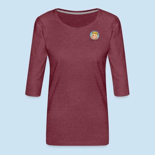 QueeenTran Logo Bitmoji - Premium T-skjorte med 3/4 erme for kvinner