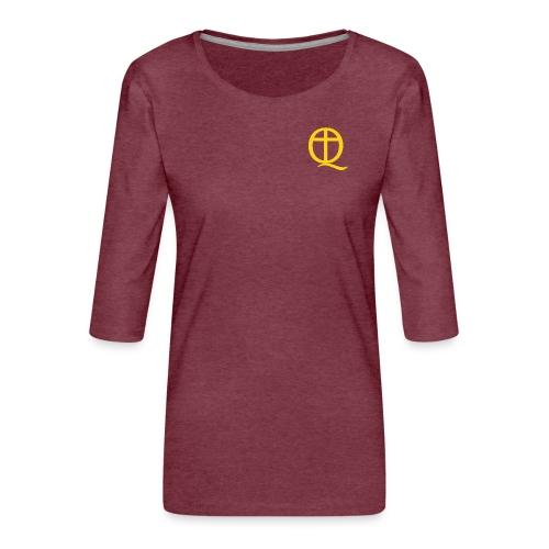 QC Gul - Premium-T-shirt med 3/4-ärm dam