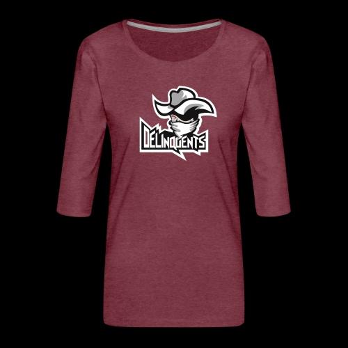 Delinquents TriColor - Dame Premium shirt med 3/4-ærmer
