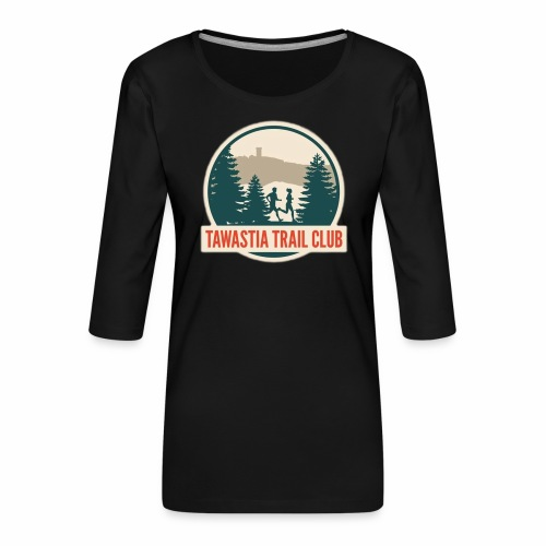 TawastiaTrailClub - Naisten premium 3/4-hihainen paita