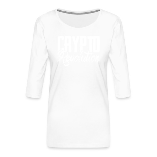 Crypto Revolution - Women's Premium 3/4-Sleeve T-Shirt
