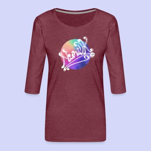 pastel rainbow, NuniDK Collection - Female top - Dame Premium shirt med 3/4-ærmer